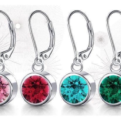 Ocelové náušnice s krystaly Swarovski Drop Chatons