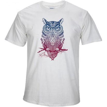 Pánské tričko s potiskem sovy - více barev