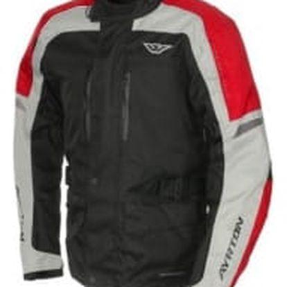 AYRTON Tonny černá/šedá/červená vel. M textilní bunda