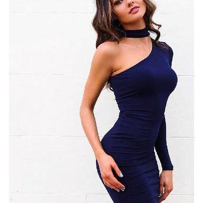 Elegantní šaty přes jedno rameno - 4 barvy