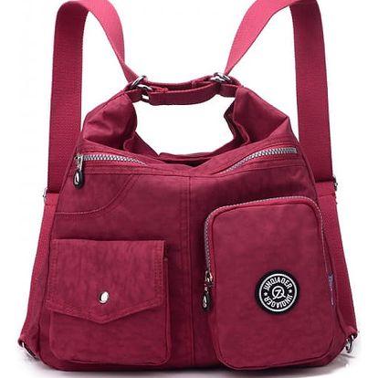 Multifunkční kabelka/batoh - mix barev