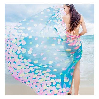 Velký vzdušný šátek na pláž Colors