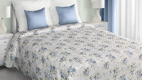 Přehoz na postel MARTA 220x240 cm modrá Mybesthome