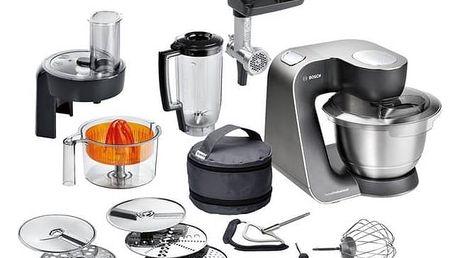 Kuchyňský robot Bosch MUM57860 černý/stříbrný + Doprava zdarma