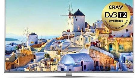 Televize LG 55UH7707 stříbrná + Doprava zdarma