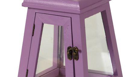 Dřevěná lucerna fialová