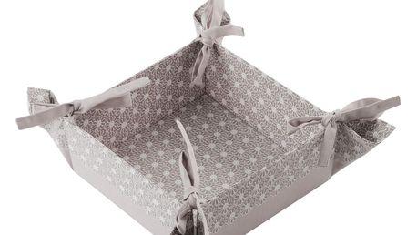 Košík na pečivo PERLITO, šedá, 36x36 cm HOME & YOU 100% bavlna
