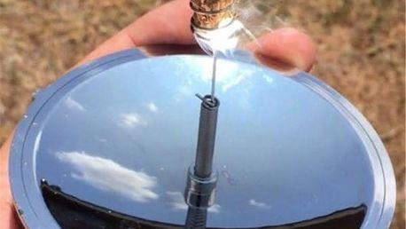 Solární pomůcka na rozdělání ohně