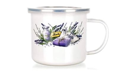 Banquet Lavender Smaltovaný hrnek 500 ml
