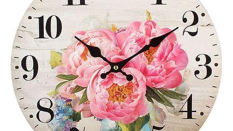 Dakls Nástěnné hodiny Pivoňka, pr. 34 cm
