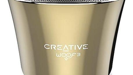 Creative WOOF3, přenosný, zlatá - 51MF8230AA003