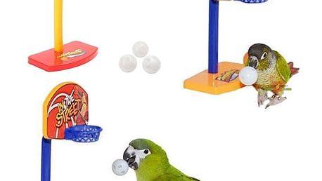 Hračka pro papoušky - basketbalový koš