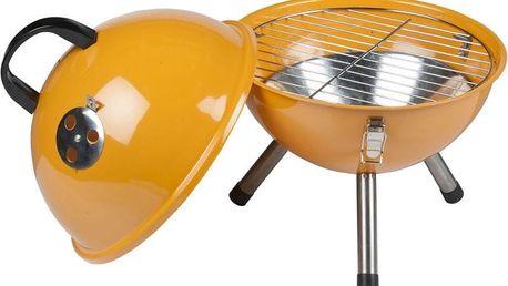 Gril na dřevěné uhlí BBQ Collection kulatý gril, oranžová