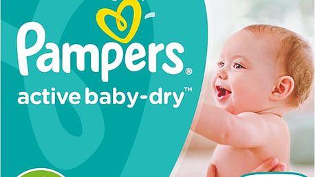 PAMPERS Active Baby 4 MAXI 132ks (8-14 kg) MEGA Box - jednorázové pleny