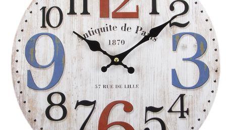Nástěnné hodiny 57 RUE DE LILLE 34x4 cm Mybesthome