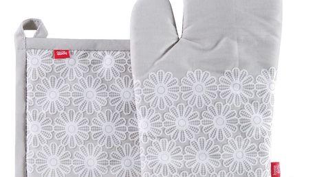 Kuchyňská rukavice/chňapka PERLITO, 18x30 cm/20X20 cm HOME & YOU, 100% bavlna