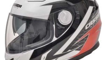 CASSIDA Evo černá/bílá/červená vel. XL integrální helma