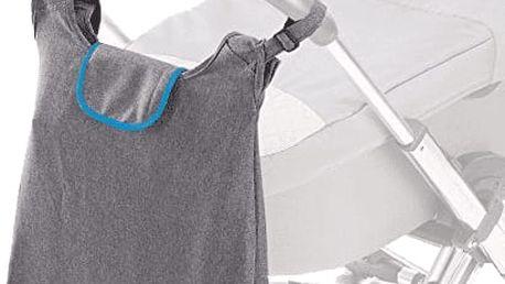 DIAGO Přebalovací taška Deluxe - šedá / modrá