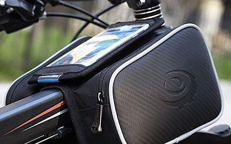 Cyklobrašna s otvorem na mobilní telefon v černé barvě