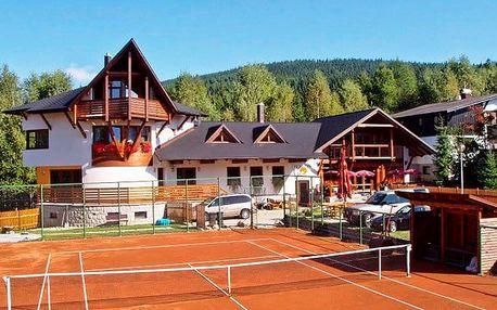 5 až 7denní pobyt pro 2 se snídaněmi a tenisem v pensionu Venus v Harrachově