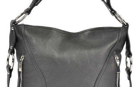 Černá kožená kabelka Carla Ferreri Eloisa - doprava zdarma!