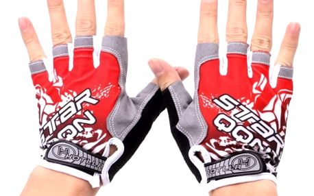 Bezprsté cyklistické rukavice s gelovými polštářky - 3 barvy