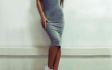 Bavlněné obtažené šaty pro dámy - 3 barvy