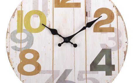 Nástěnné hodiny WOODEN FLOOR 34x4 cm Mybesthome
