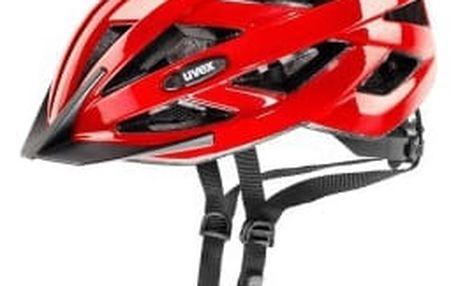 Uvex I-VO red metallic 2017 cyklistická přilba