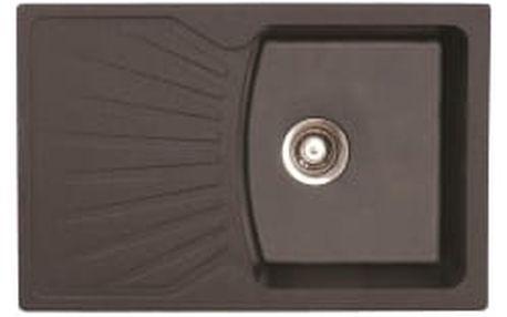 METALAC X Granit QUADRO PLUS černý dřez