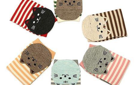 Dámské ponožky s kočičkami