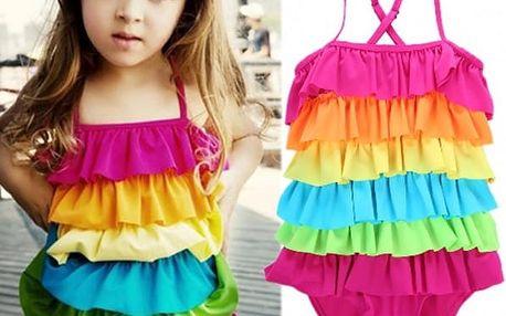 Dívčí jednodílné plavky Rainbow