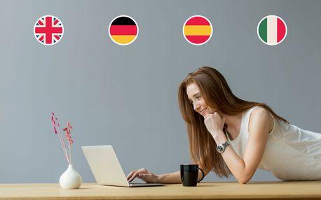 Šestiměsíční online kurz 4 jazyků