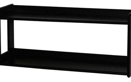 Závěsná police černá 07505C