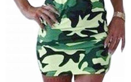 Vojenské šaty s minisukní pro dámy