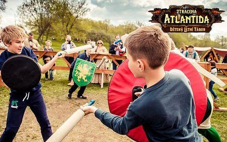 14denní dětský letní tábor Ztracená Atlantida s bohatým programem u Bruntálu