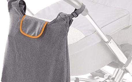 DIAGO Přebalovací taška Deluxe - šedá / oranžová