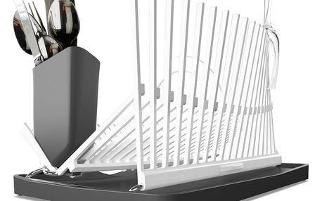 Bílo-šedý odkapávač Black + Blum Dish Rack - doprava zdarma!