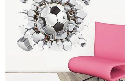 3D samolepka na zeď pro fotbalové nadšence