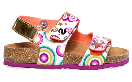 Desigual barevné dívčí sandály Bio Velcros Roller - 28