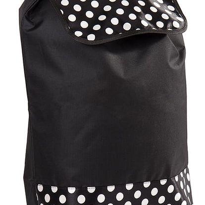 Nákupní taška na kolečkách Puntík černá