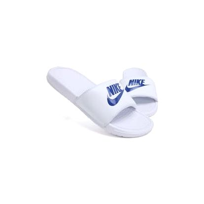 Pánské nazouváky Nike BENASSI JDI 44 WHITE/VARSITY ROYAL-WHITE