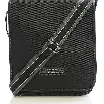 Černá taška přes rameno Enrico Benetti 4470 černá