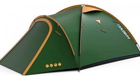 Stan Husky Outdoor Bizon 3 classic zelený + Stan Loap BEACH SHELTER pro 4 osoby - zelená v hodnotě 719 Kč + Doprava zdarma