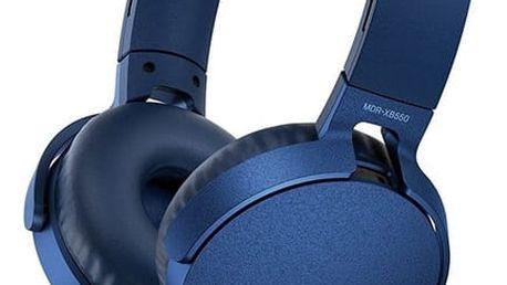 Sony MDR-XB550AP, modrá - MDRXB550APL.CE7