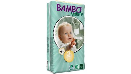 BAMBO Nature Midi 3 (5-9kg) 66ks - jednorázové pleny