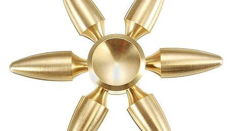 Vzácný šesticípý Fidget Spinner ve zlaté barvě
