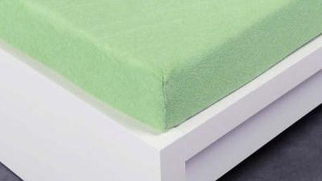XPOSE ® Froté prostěradlo Exclusive dvoulůžko - světle zelená 160x200 cm
