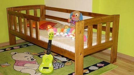 Dětská postel Agatka - přírodní - lak