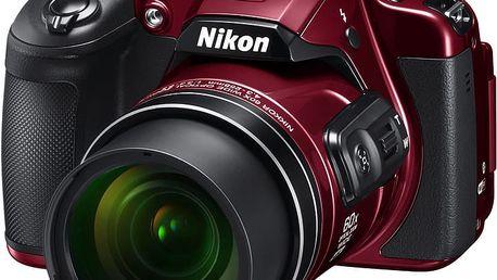 Nikon Coolpix B700, červená - VNA931E1 + Batoh Alpine Pro Nexca v ceně 750 Kč